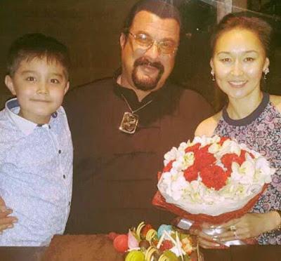 Kunzang Seagal with his parents