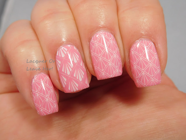 Pink Deco: Zoya Laurel + It Girl Nail Art IG107