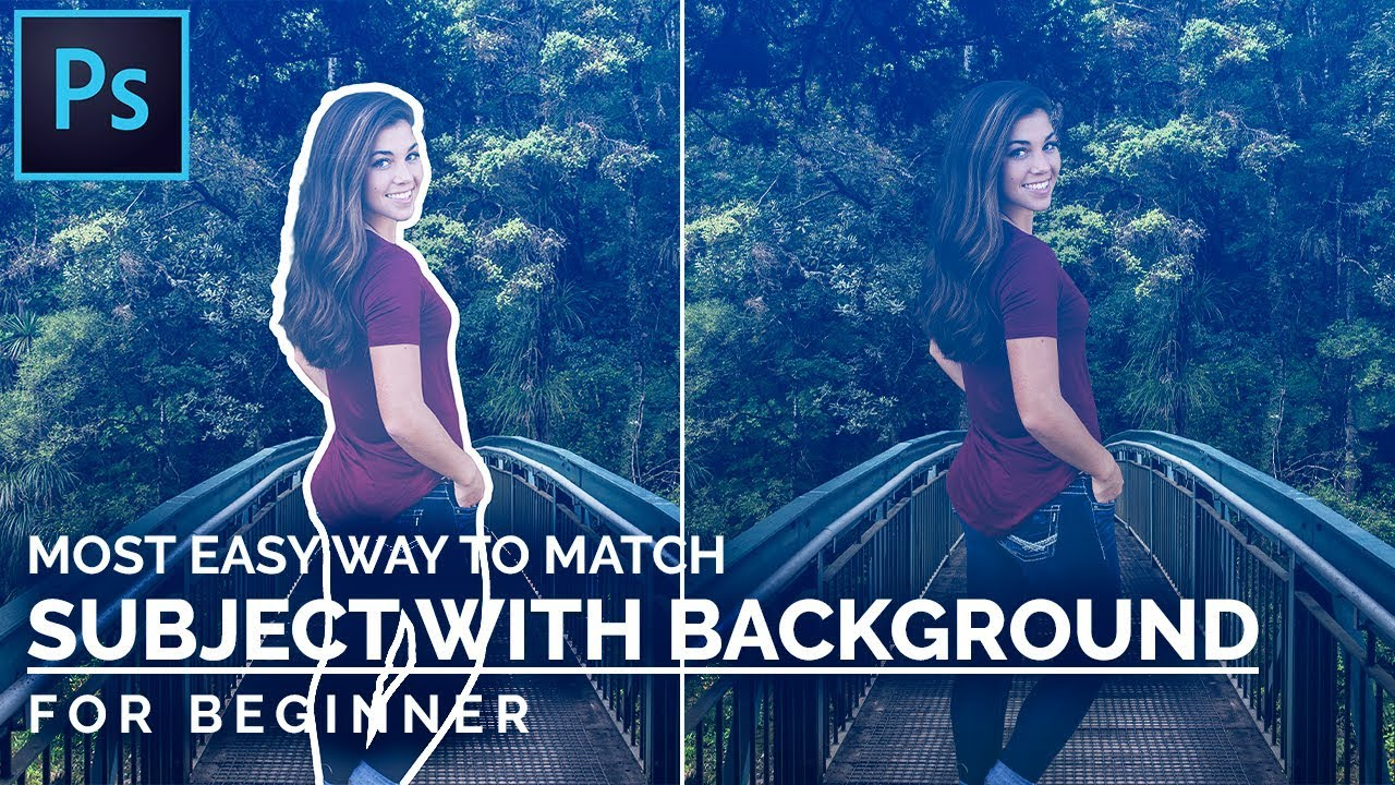 how to match the subject with background in photoshop, illphocorphics, photoshop tutorial, tutorial, photoshop, illphocorphics, illphocorphics tutorial