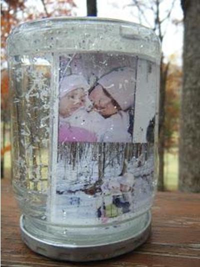 Foto dalam snow globes