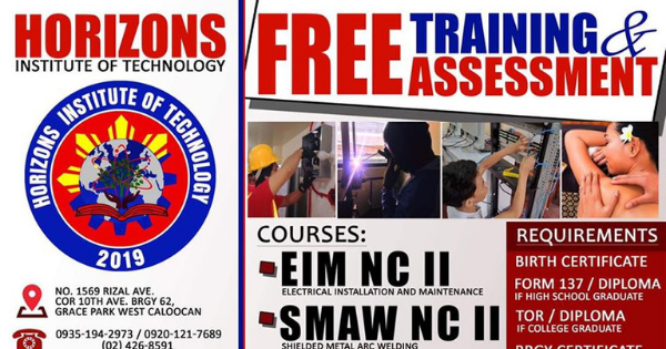 4 Free Training & Assessment | HIT - TESDA Accredited