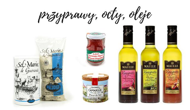 sól francuska, francuskie oleje i octy
