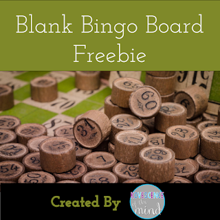 Blank Bingo Board Freebie