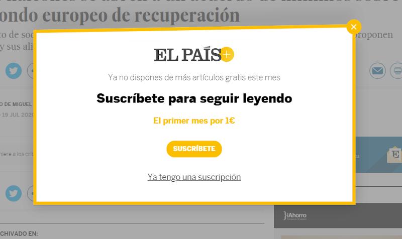 Cómo leer los artículos de Elpais.com sin suscripción