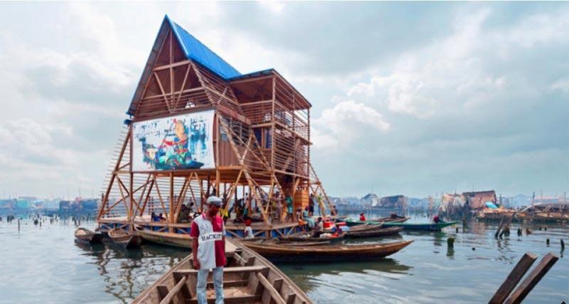 Photos: Makoko Floating School collapses in Lagos