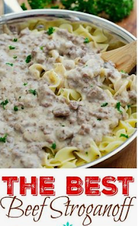 This easy Ground Beef Stroganoff