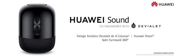 Huawei Sound: a nova coluna sem fios da marca que promete apaixonar os amantes de música