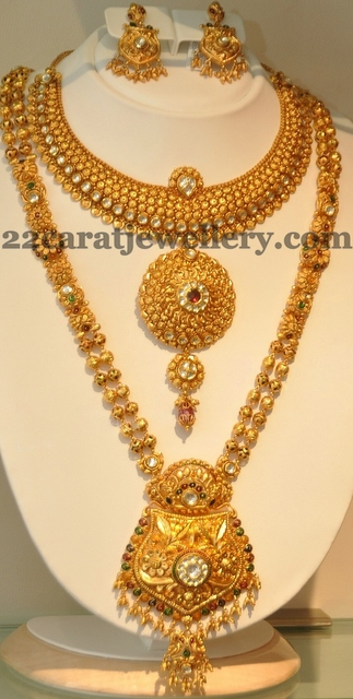 Latest Antique Sets By Khazana Jewellery Designs