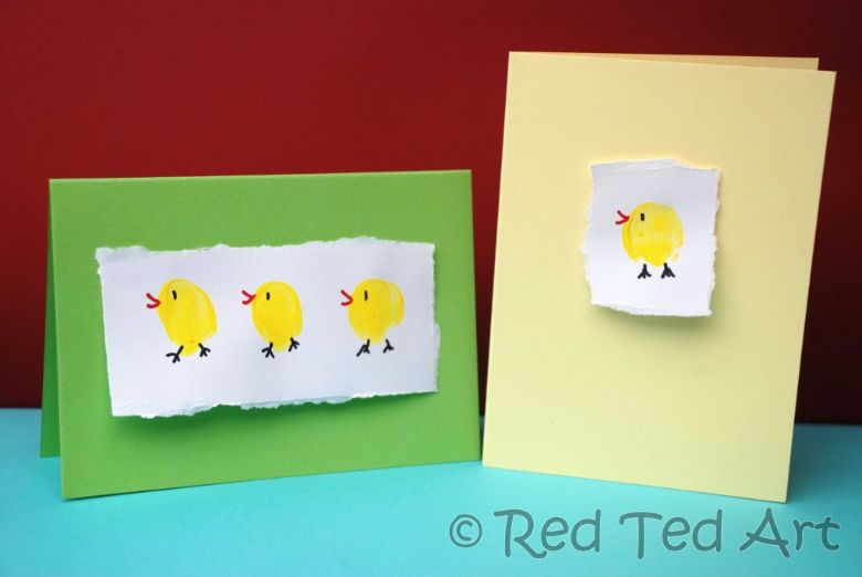 Easter crafts for toddlers - fingerprint chick craft