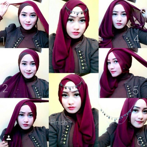 Kumpulan Video Banyak Sekali Tutorial Hijab Segi Empat Pesta Modern Dan Elegan