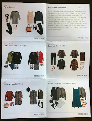 Stitch Fix Style Card - Stitch Fix #28 Review - December 2016