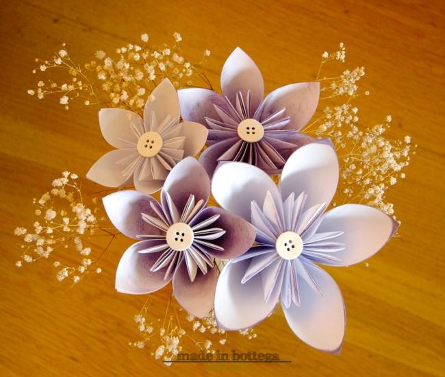 costruire fiori con la tecnica dell'origami