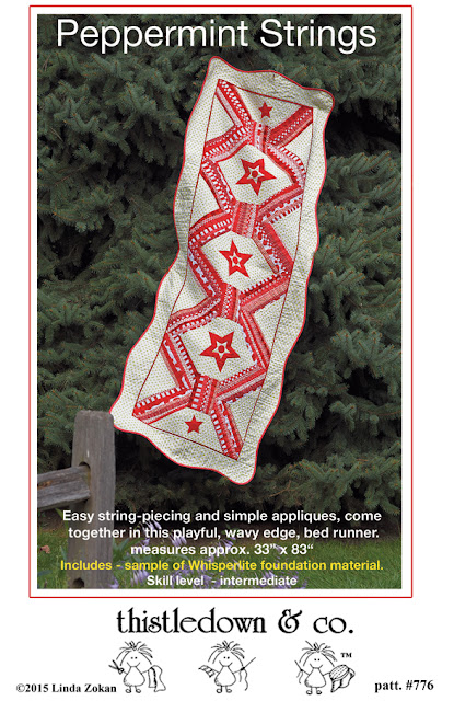 Peppermint String bed runner quilt pattern