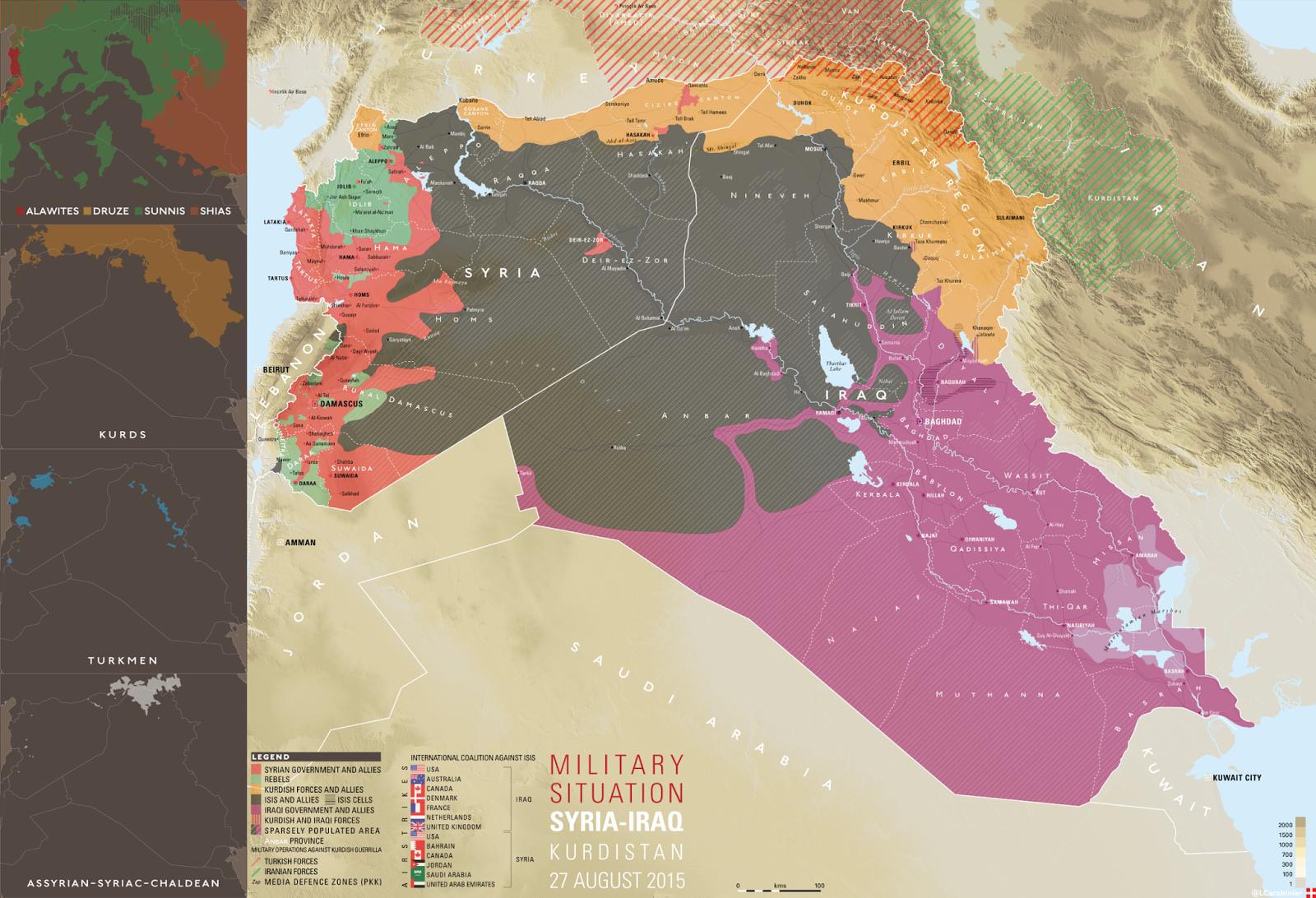 Military situation Syria, Iraq and Kurdistan