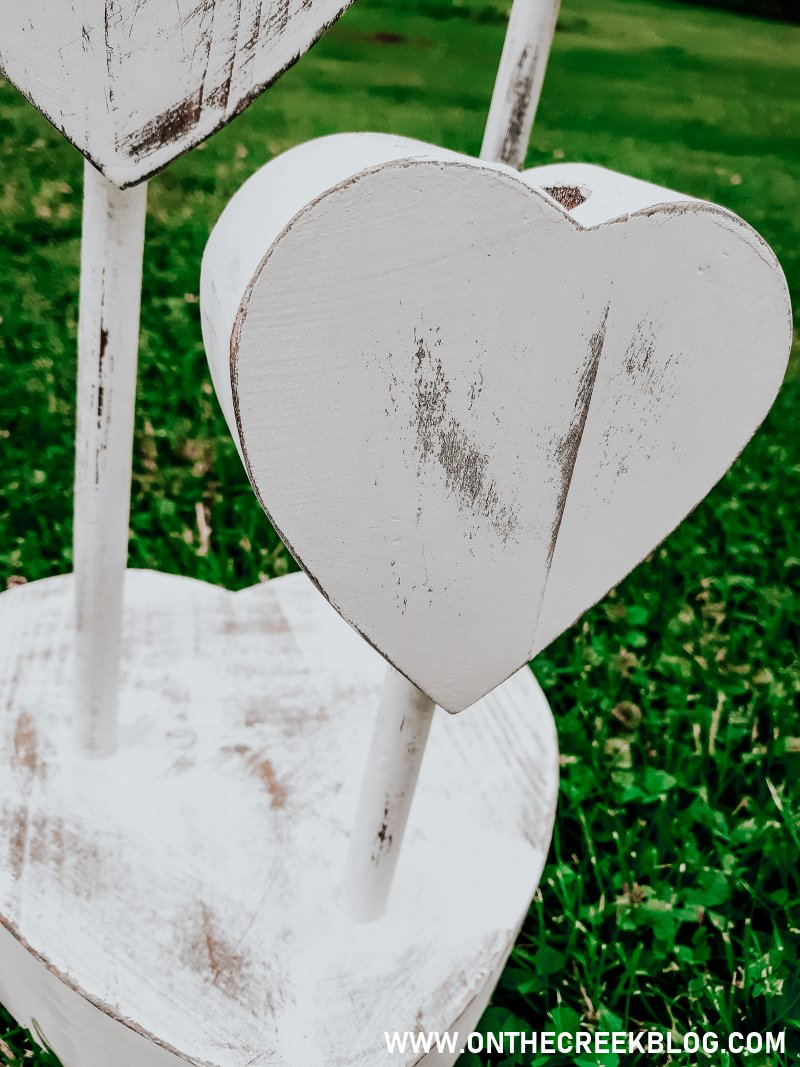 Rustic/chippy/distressed heart candle holder!