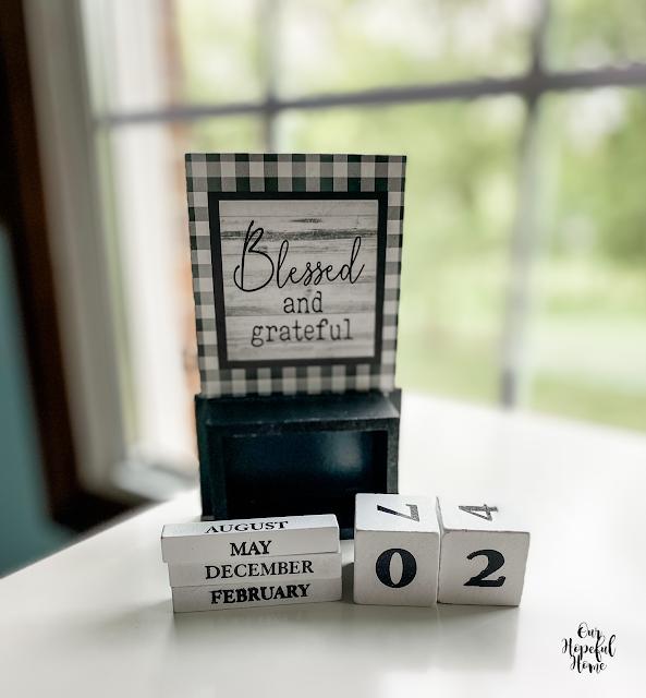 five wooden blocks dates months perpetual calendar