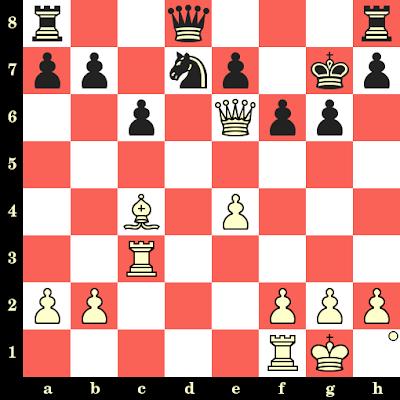 Les Blancs jouent et matent en 4 coups - Heinz Wirthensohn vs Josip Rukavina, Skopje, 1972
