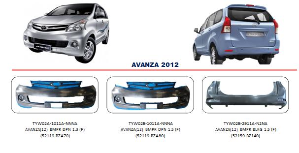 Bemper Toyota Avanza 2012