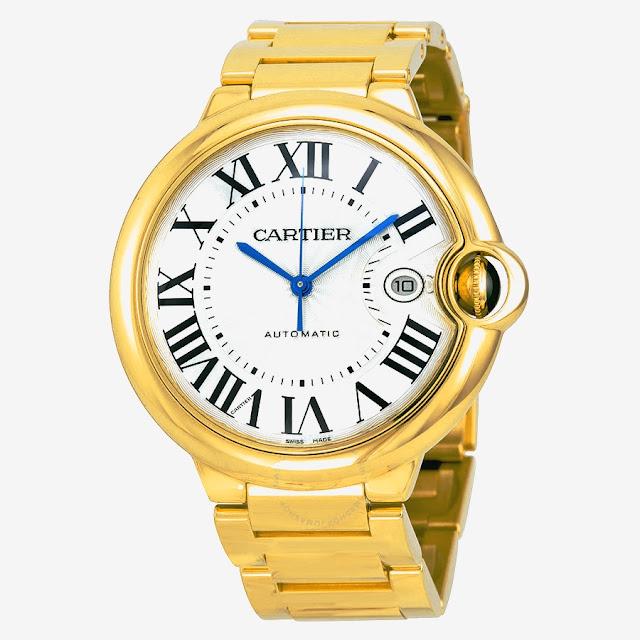 """أفضل ساعة كارتير رجالية """"Cartier 18Kt Ballon Bleu"""""""
