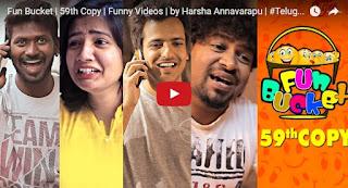 Fun Bucket  59th Copy  Funny Videos  by Harsha Annavarapu