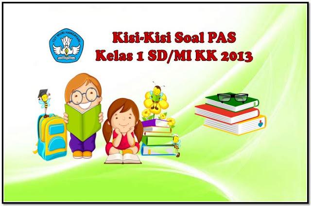 Kisi-Kisi Soal PAS Kelas 1 KK 2013