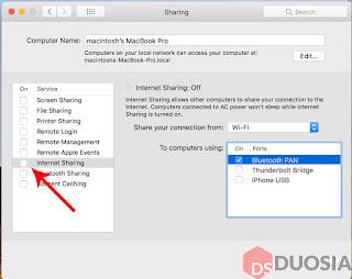 Berbagi WiFi di Mac