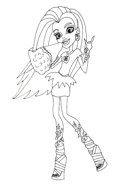 Monster High Coloring Pages February 2014