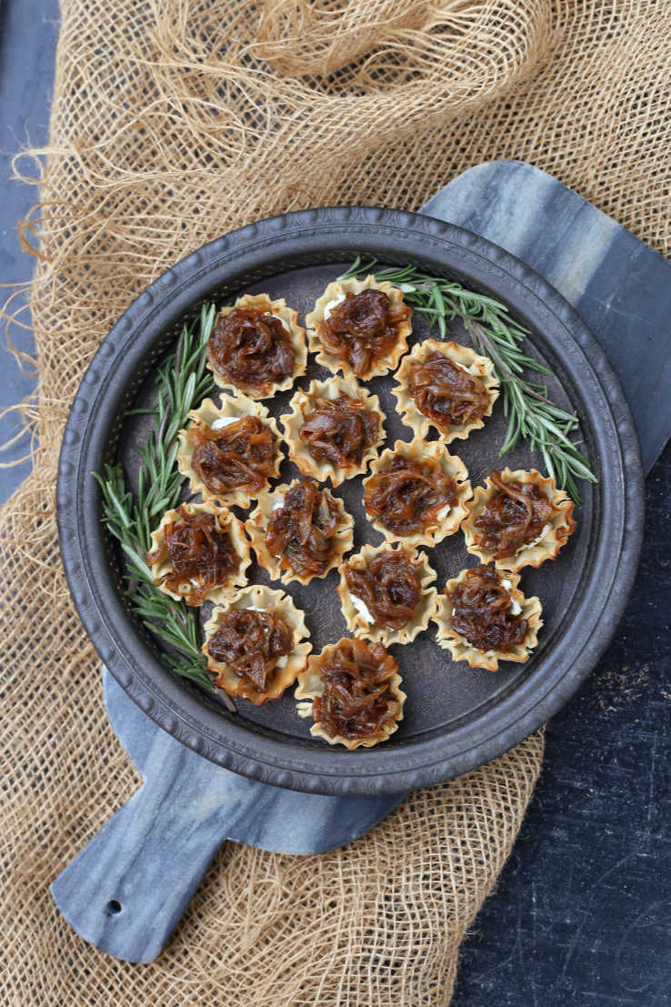Caramelized Onion Tartlet appetizers | Charmed