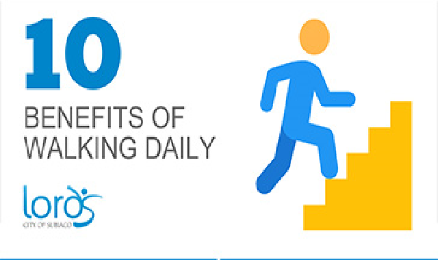 10 Benefits of Walking Daily #infographic