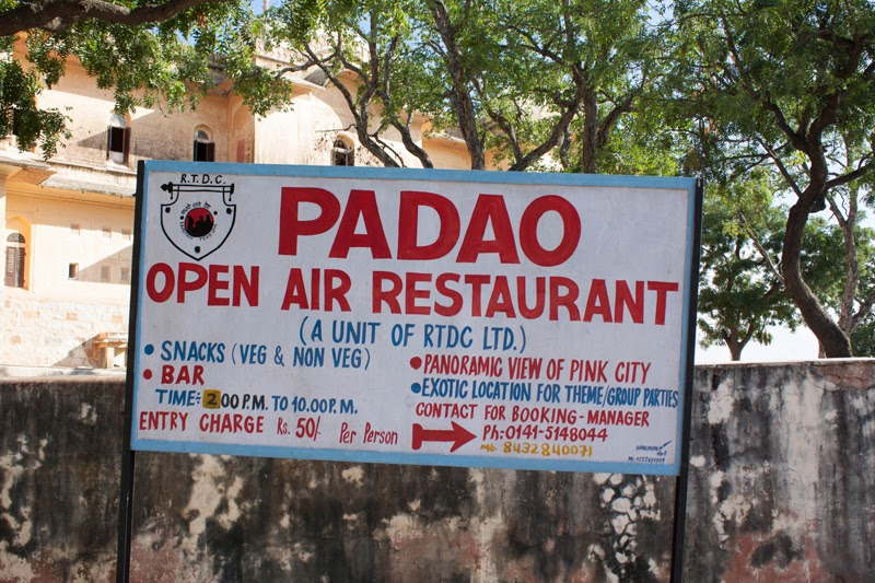 You will see this Board Pointing you towards Padao Open Air Bar/Restaurant when you will come out from Madhavendra Palace.