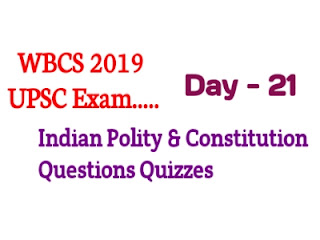 UPSC  Indian Polity And Constitution Questions Quizzes
