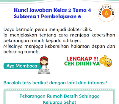 Kunci Jawaban Kelas 2 Tema 4 Subtema 1 Pembelajaran 6  www.simplenews.me