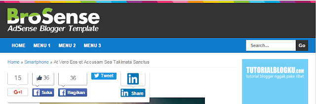 Cara memperbaiki tombol share button error di template mas sugeng