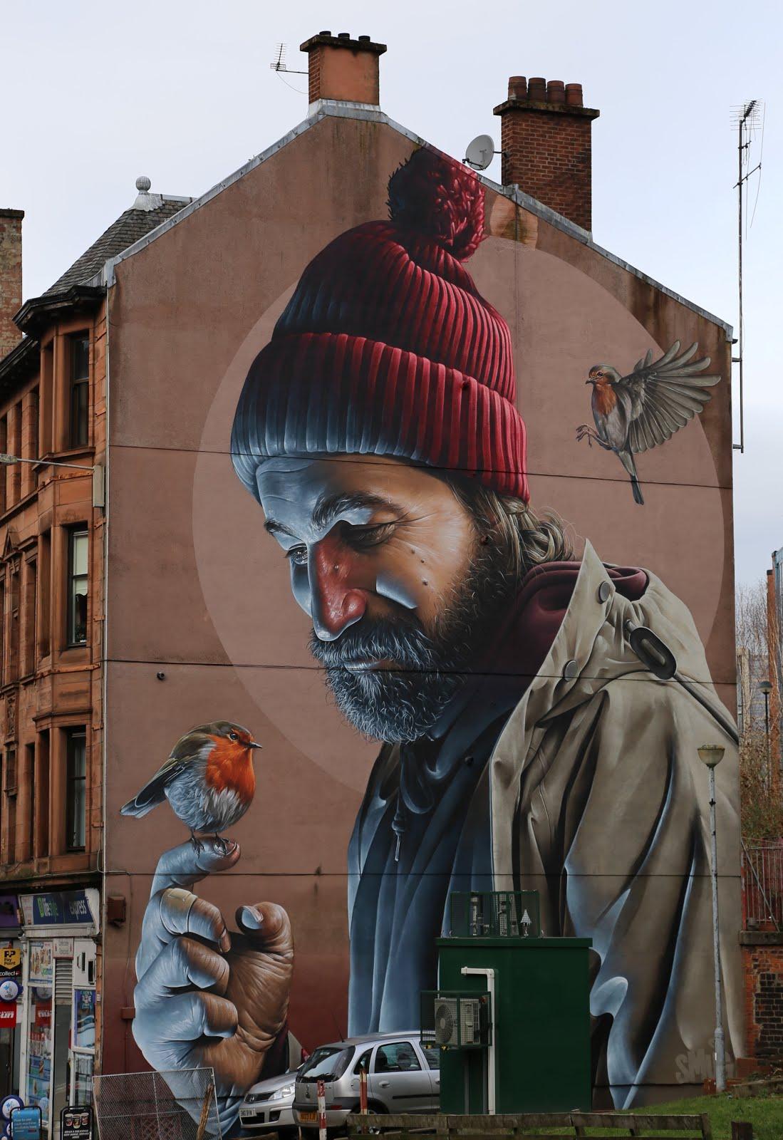 Sports Wall Murals Glasgow Punter Street Art Glasgow Murals Update