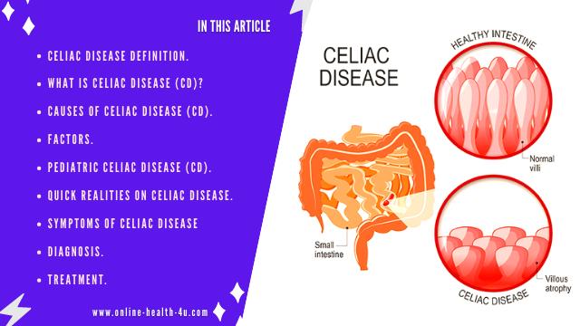 Celiac Disease Definition | Celiac Disease Symptoms and Treatment.