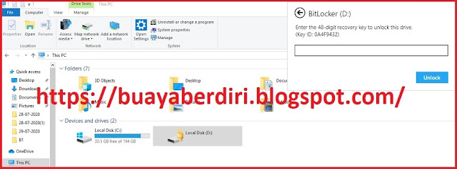 Recovery Key Bitlocker Windows 10