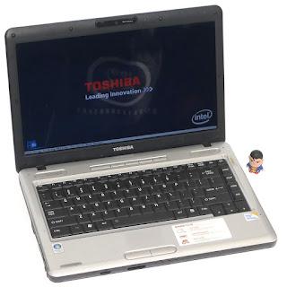 Laptop Toshiba Satellite L510 Silver 2nd di Malang