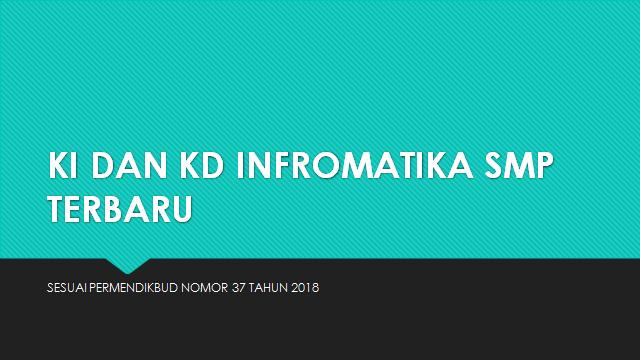 Kompetensi Inti dan Kompetensi Dasar Informatika SMP Terbaru