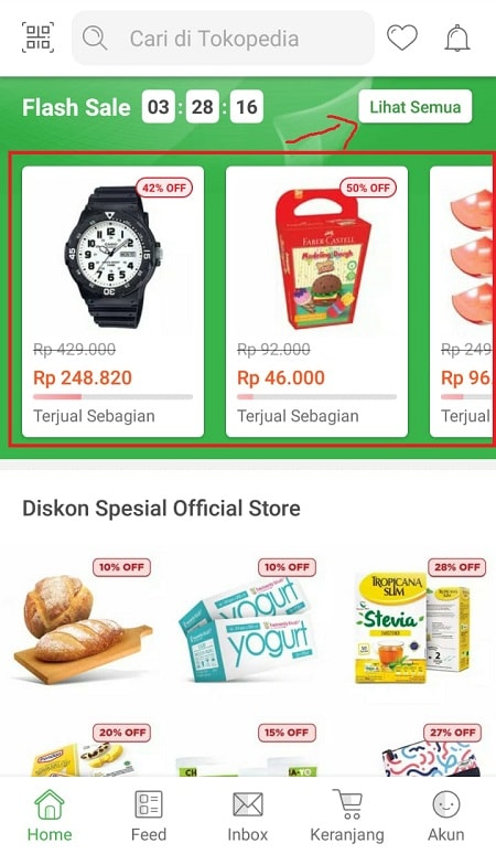 Mencari Promo Flash Sale Tokopedia