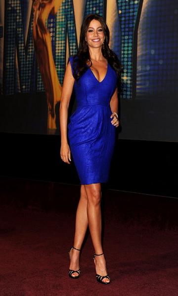 79d53de635e Robe à la mode  Robe longue bleu electrique pas cher