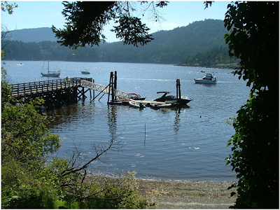 Eastsound county dock on Orcas Island