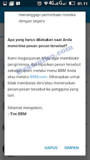 Waspada Terhadap Penipu (Message From BBM)