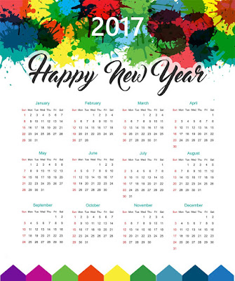 Happy New Year 2017 Calendar Download