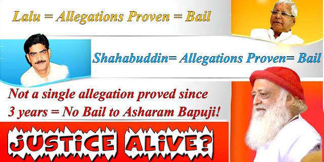 Lalu Yadav, Shahabuddin misuse judiciary to get bail