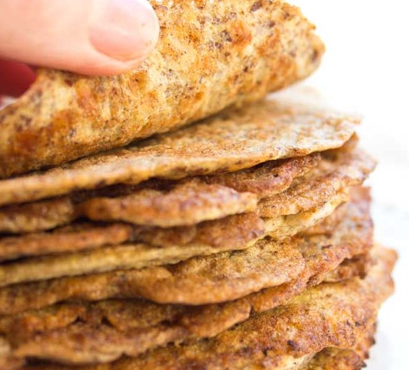 FLAXSEED LOW CARB WRAPS (KETO, GLUTEN FREE) #healthy #diet