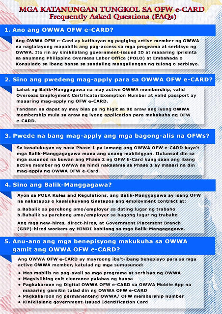 owwa ecard - ofw overseas filipino workers FAQ1