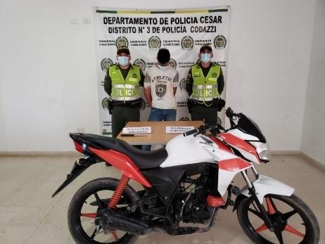 hoyennoticia.com, Se robó una moto en Becerril y lo pillaron en La Jagua de Ibirico