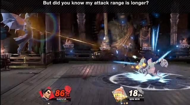 Kazuya Devil Blaster range Super Smash Bros. Ultimate laser beam