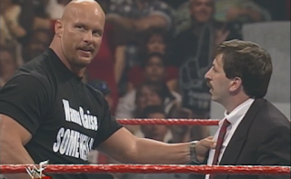 WWF -  Unforgiven 1998: In Your House 21 - Steve Austin threatens timekeeper Mark Yeaton