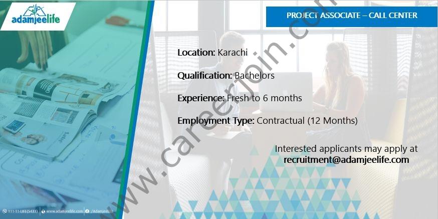 Adamjee Life Assurance Co Ltd Jobs 2021 in Pakistan